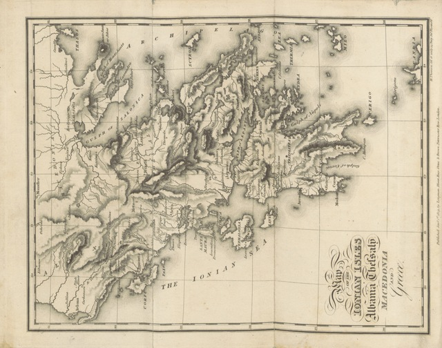 """map from """"[Travels in the Ionian Isles, Albania, Thessaly, Macedonia, ... during the years 1812 and 1813.]"""""""