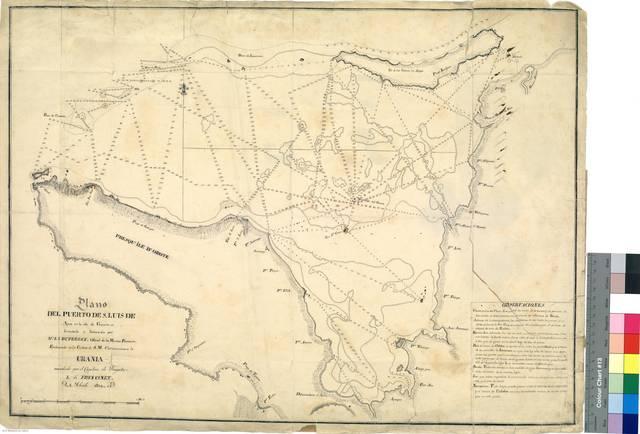 Plano del Puerto de S. Luis de Apra : en la isla de Guam [Mapa]