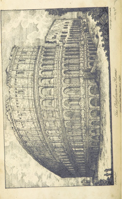 """coliseum from """"Voyages and Travels of Her Majesty, Caroline Queen of Great Britain: including visits to various parts of Germany, France, Italy, Greece, Palestine, &c. ... By one of Her Majesty's suite [i.e. Louise Demont], etc"""""""