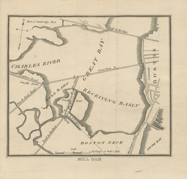 """map from """"A survey of Boston and its vicinity ... Together with a short topographical sketch of the country, etc"""""""