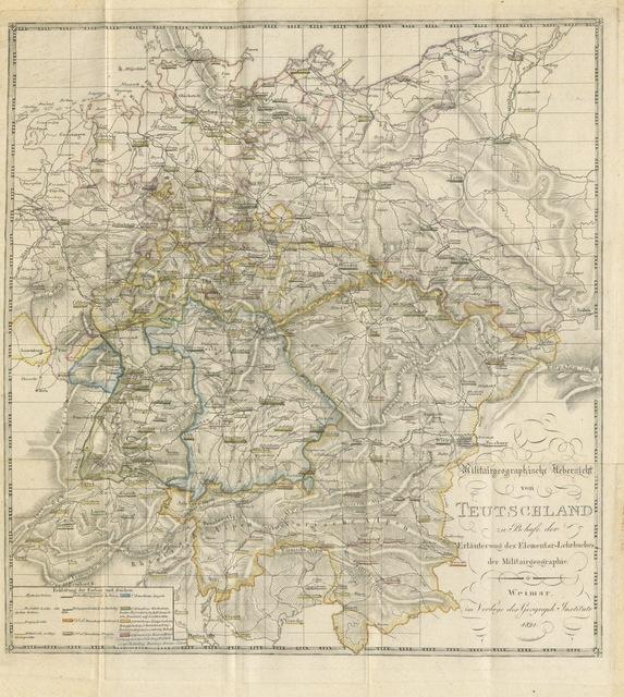 """map from """"Die Elemente der Militär-Geographie von Europa ... Mit einer Militär-Charte von Teutschland"""""""