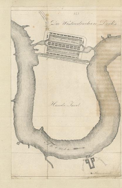 """map from """"Umrisse einer Reise nach London, Amsterdam und Paris im Jahr 1817 von Archibald. Mit acht Steinabdrücken"""""""