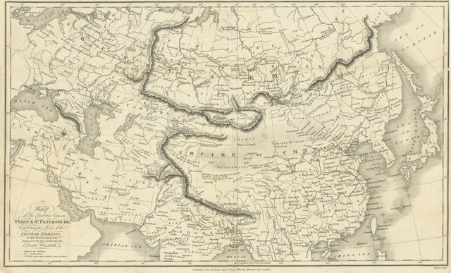 """Persia from """"Narrative of the Chinese Embassy to the Khan of the Tourgouth Tartars in the years 1712, 13, 14 & 15; by the Chinese Ambassador (Tu-li-Shin) and published by the Emperor's authority at Pekin. Translated from the Chinese, and accompanied by an appendix of miscellaneous translations by Sir G. T. Staunton"""""""