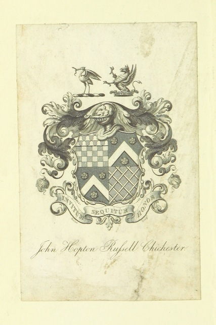 """coat of arms from """"[The Works of William Robertson ... To which is prefixed, an account of his life and writings by Dugald Stewart. ... A new edition.]"""""""