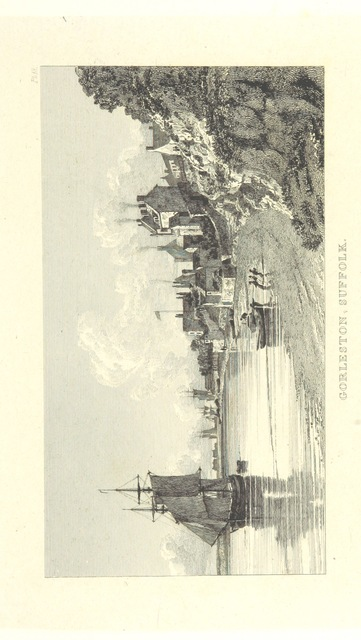 """Gorleston from """"[Twenty-four views displaying the beauties of Yarmouth and its environs, extending from Caister Castle to Lowestoft light-house ... by J. Lambert ... With a concise description ... and an historical notice of Yarmouth by J. H. D.]"""""""