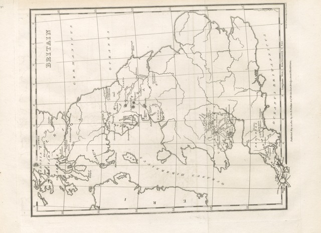 "map from ""Chronicles of Eri; being the History of the Gaal Sciot Iber, or Irish people; translated from the MSS. in the Phœnician dialect of the Scythian language. By O'Connor"""