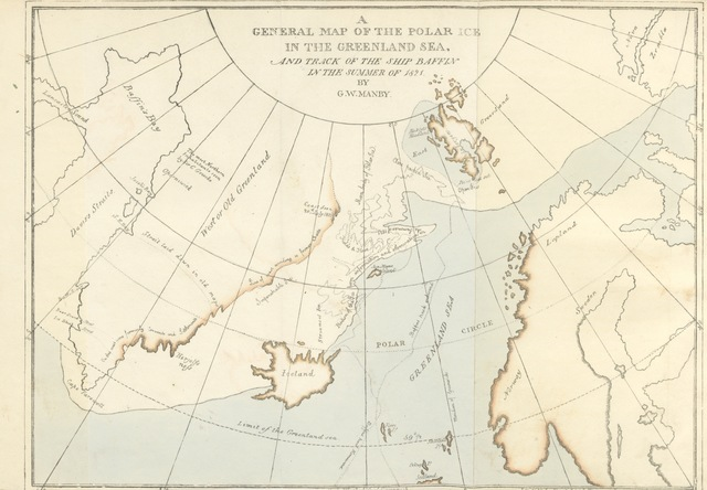 """map from """"Journal of a Voyage to Greenland, in the year 1821. With graphic illustrations"""""""