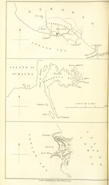 "map from ""[Proceedings in Parga and the Ionian Islands, with a series of correspondence and other justificatory documents. [With a map.]]"""
