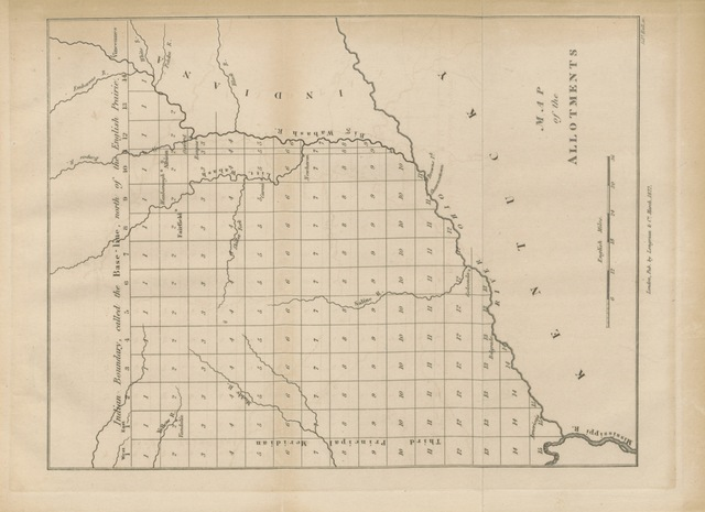 "map from ""Two Years Residence in the Settlement on the English Prairie, in the Illinois Country, United States, etc"""