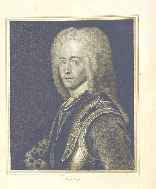 "portrait from ""[Memoirs of the Rebellion in 1745 and 1746; ... containing a narrative of the progress of the Rebellion ... to the battle of Culloden; the characters of the principal persons engaged in it; and ... an account of the sufferings ... experienced by the author ... Translated from a French MS., ... now in the hands of the Publishers.]"""