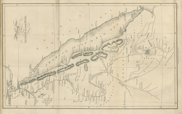 """map from """"A narrative of the Expedition to Dongola and Sennaar, under the command of Ismael Pasha ... First American edition"""""""