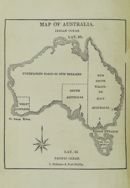 """map from """"Hints from the Journal of an Australian Squatter, late in the service of the Hon. East India Company. Compiled for the use of emigrants; and edited, with an introduction and appendix, by Alfred Caswall"""""""