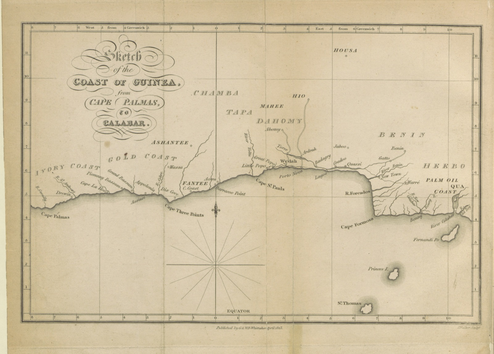 Map Of Africa In 1800.Map From Sketches Taken During Ten Voyages To Africa Between The