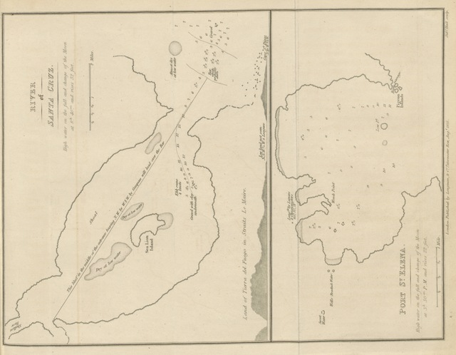 """map from """"A Voyage towards the South Pole ... in ... 1822-24; containing an examination of the Antarctic Sea to the seventy-fourth degree of latitude: and a visit to Tierra del Fuego, ... To which is added much useful information on the Coasting Navigation of Cape Horn, and the adjacent Islands, etc"""""""