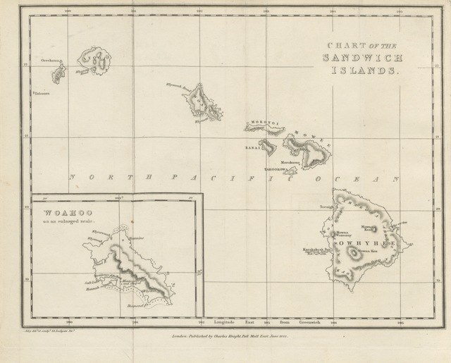 """map from """"Narrative of a Visit to Brazil, Chile, Peru and the Sandwich Islands during the years 1821 and 1822. With miscellaneous remarks on the past and present state, and political prospects of those countries"""""""