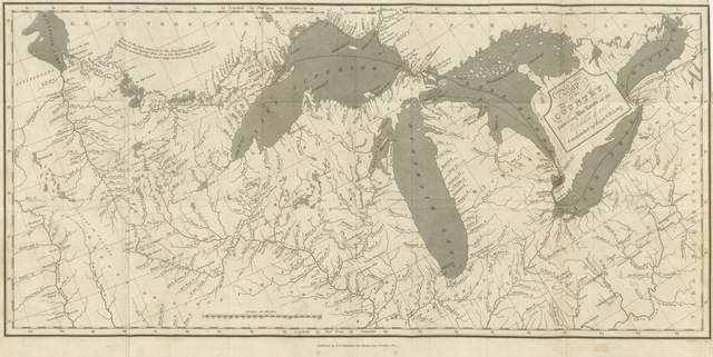 """map from """"[Narrative of an Expedition to the source of St. Peter's River, Lake Winnepeck, Lake of the Woods, etc. performed ... by order of the Secretary of War under the command of S. H. Long.]"""""""
