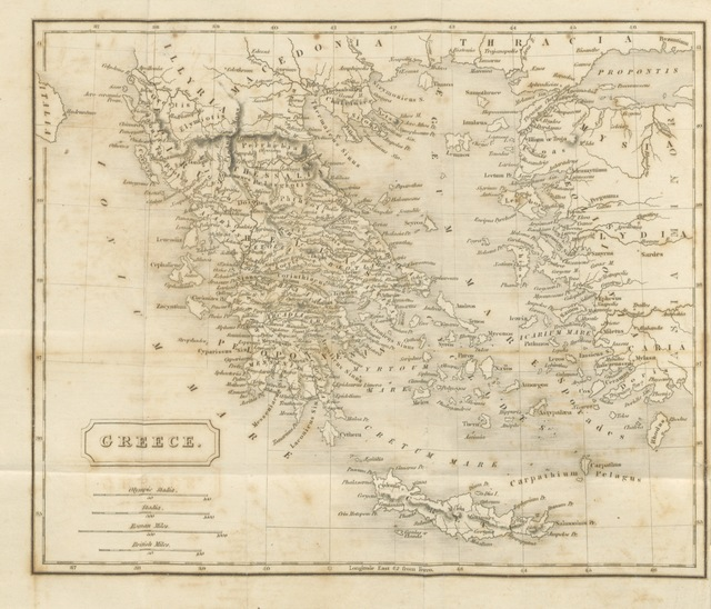 """map from """"The history of Greece, from the earliest state, to the death of Alexander the Great ... To which is added, a summary account of the affairs of Greece from that period to the sacking of Constantinople by the Othomans, etc"""""""