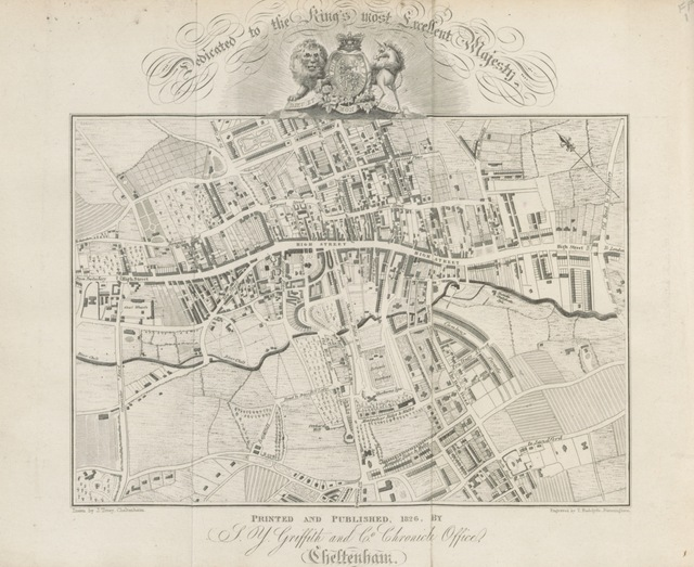 """map from """"[Griffith's new historical description of Cheltenham and its vicinity ... with ... engravings. L.P.]"""""""