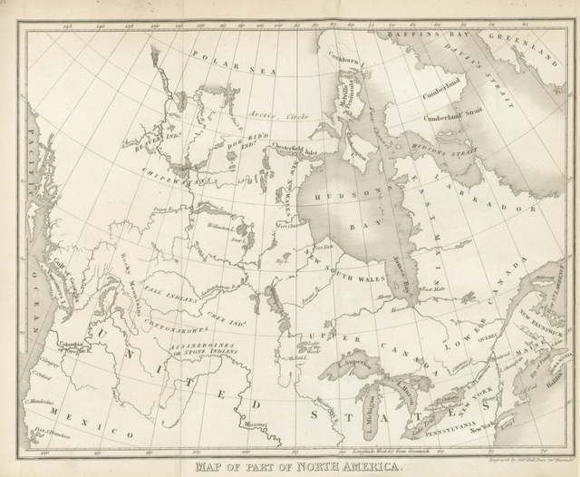 "map from ""A journal of a mission to the Indians of the British Provinces, of New Brunswick, and Nova Scotia, and the Mohawks, on the Ouse, or Grand River, Upper Canada"""