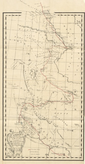 """map from """"Personal Narative of travels in Babylonia, Assyria, Media, and Scythia, in the year 1824. Third edition"""""""