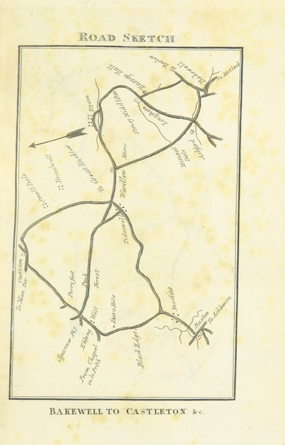 """map from """"[The Matlock, Buxton and Castleton Guide, containing concise accounts of these and other remarkable places ... in the ... County of Derby.]"""""""