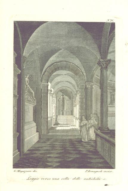 """cloisters from """"Descrizione della Certosa di Bologna, ora Cimitero Comunale. [With a plan.]"""""""