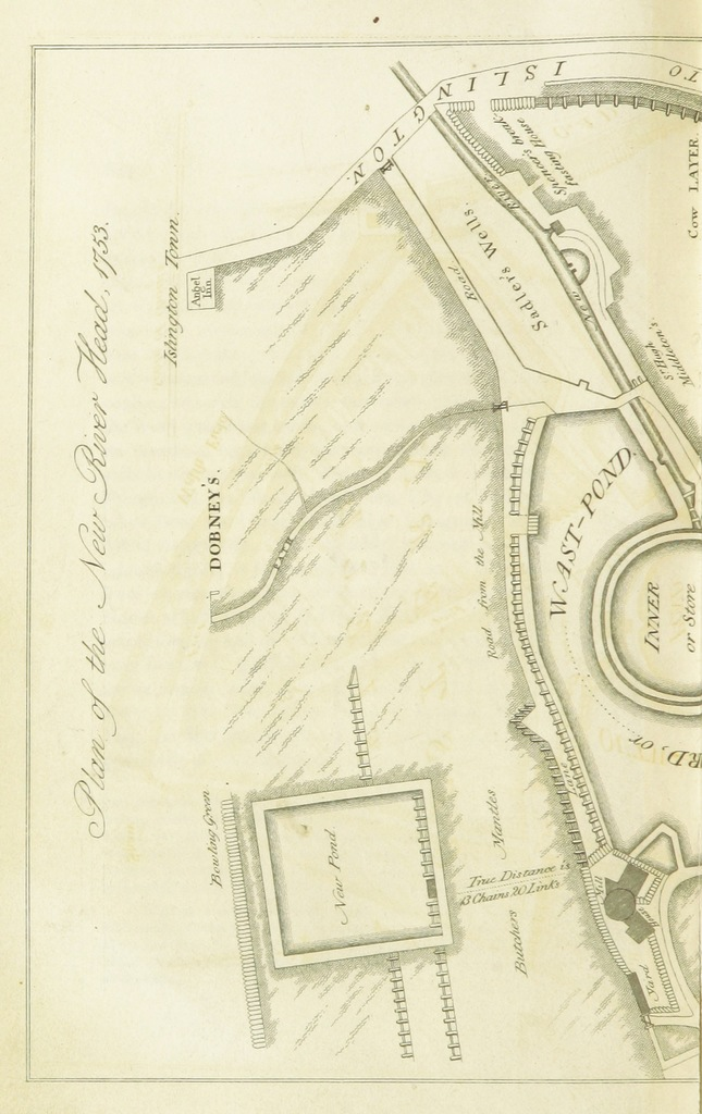 """map from """"History and Description of the Parish of Clerkenwell ... With numerous engravings, by J. & H. S. Storer. The historical department by T. Cromwell"""""""