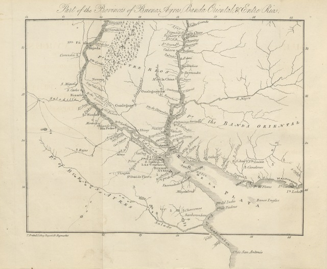 """map from """"Travels in Buenos Ayres, and the adjacent provinces of the Rio de la Plata. With observations, for the use of persons who contemplate emigrating to that country; or, embarking capital in its affairs"""""""