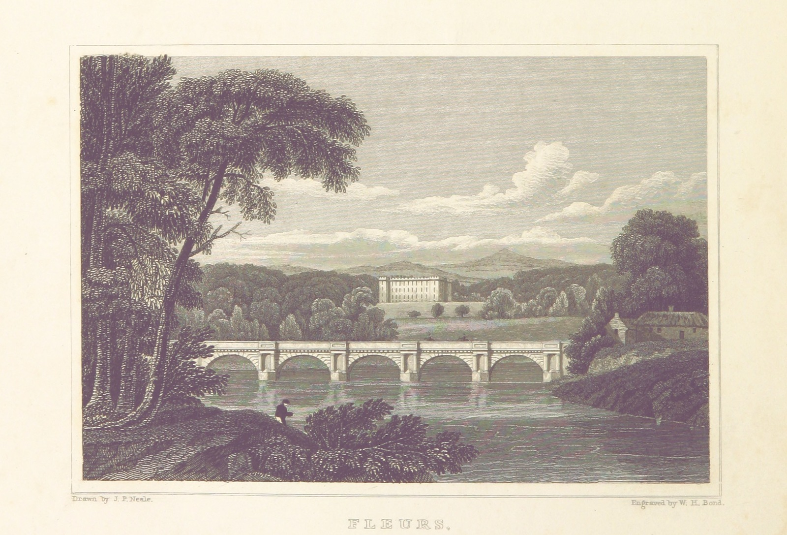 """bridge from """"Modern Athens, displayed in a series of views; or, Edinburgh in the nineteenth century; exhibiting the whole of the new buildings, modern improvements, antiquities, & picturesque scenery of the Scottish metropolis & its environs, from original drawings by Mr. T. H. Shepherd. With historical, topographical & critical illustrations [by John Britton]"""""""