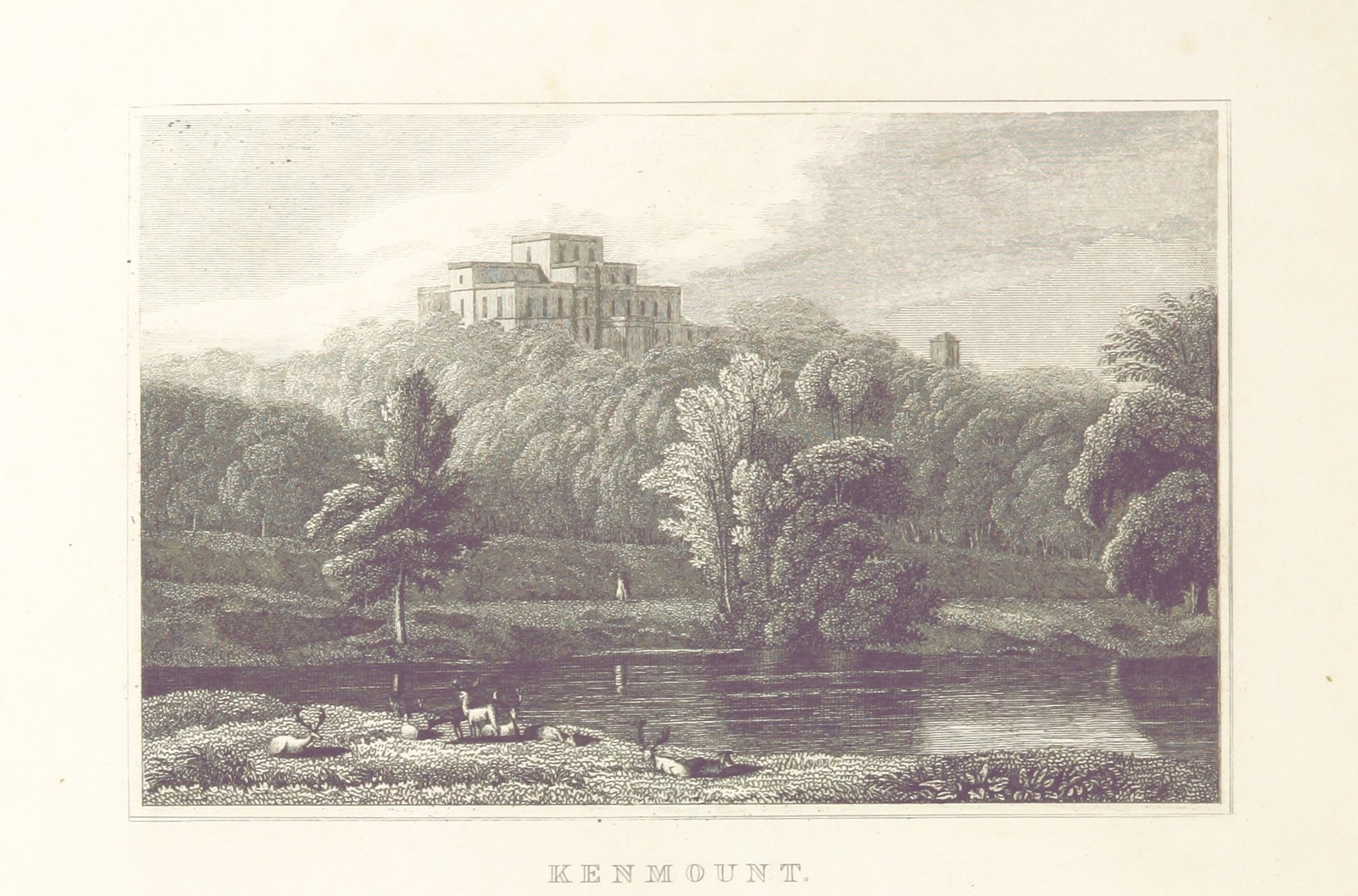 """Kenmount from """"Modern Athens, displayed in a series of views; or, Edinburgh in the nineteenth century; exhibiting the whole of the new buildings, modern improvements, antiquities, & picturesque scenery of the Scottish metropolis & its environs, from original drawings by Mr. T. H. Shepherd. With historical, topographical & critical illustrations [by John Britton]"""""""