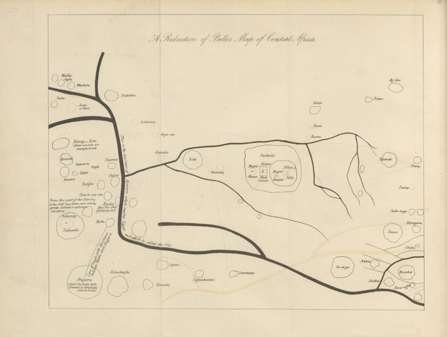 "map from ""A dissertation on the course and probable termination of the Niger"""