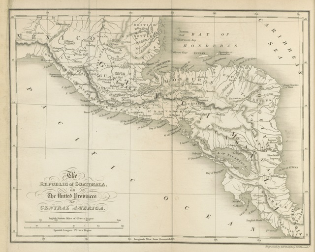 """map from """"[Guatimala, or, the United Provinces of Central America in 1827-8; being sketches and memorandums made during a twelve month's residence in that Republic.]"""""""