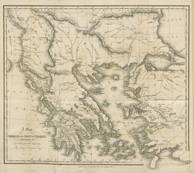 """map from """"Letters from the Ægean"""""""