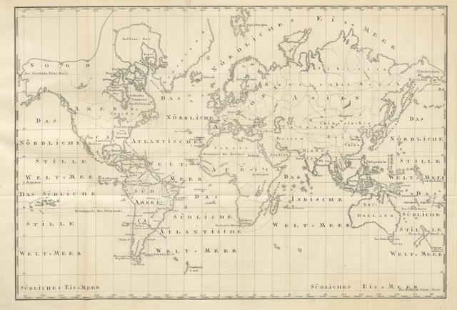 """map from """"Natur- und Sittengemälde der Tropen-Länder. Skizzen einer Reise durch Süd-America und um die Welt ... Mit acht Abbildungen. Zweite Auflage"""""""