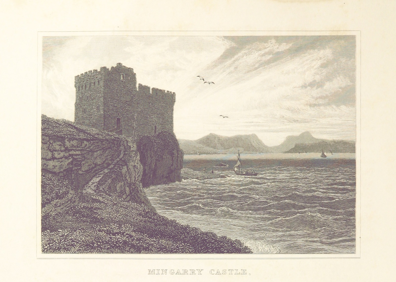 """Mingarry Castle from """"Modern Athens, displayed in a series of views; or, Edinburgh in the nineteenth century; exhibiting the whole of the new buildings, modern improvements, antiquities, & picturesque scenery of the Scottish metropolis & its environs, from original drawings by Mr. T. H. Shepherd. With historical, topographical & critical illustrations [by John Britton]"""""""
