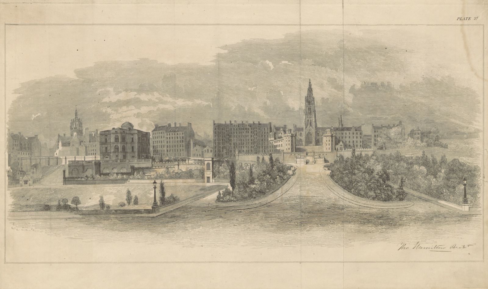 "edinburgh from ""Report relative to proposed improvements on the earthen mound, etc. [With an appendix and plates.]"""