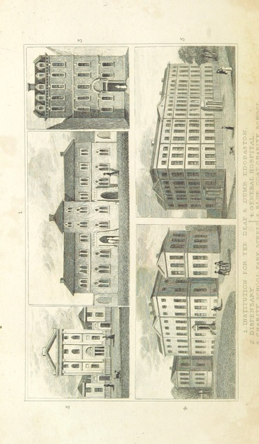 """hospital from """"An Historical and Descriptive Sketch of Birmingham, with some account of its environs, and forty-four views of the principal public buildings, etc. [By George Yates?]"""""""
