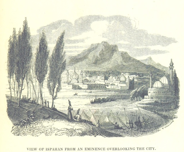 """Isfahan from """"[Travels in Assyria, Media, and Persia, etc.]"""""""