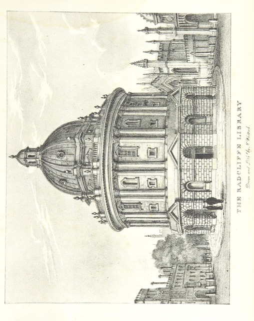 "James Gibbs (architect) from ""The Microcosm of Oxford: containing a series of views of the Churches, Colleges, Halls and other public buildings of the University and City of Oxford ... Accompanied with brief notices of Founders, ... and other subjects explanatory of the several drawings"""