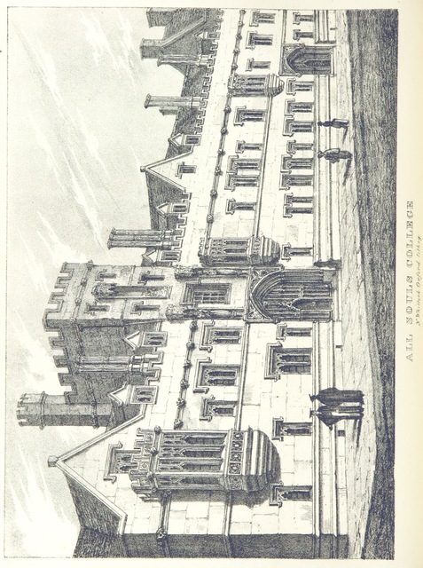 "Oxford University from ""The Microcosm of Oxford: containing a series of views of the Churches, Colleges, Halls and other public buildings of the University and City of Oxford ... Accompanied with brief notices of Founders, ... and other subjects explanatory of the several drawings"""