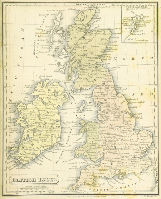 """British Isles from """"The Boston School Atlas. With elemental geography and astronomy, etc. (Fourth edition.) [Maps, with explanatory text.]"""""""