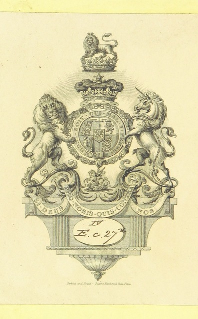 """coat of arms from """"Extracts from the Journal of Lord R. G., being an account of his visit to the Barbary Regencies in the spring of 1830"""""""