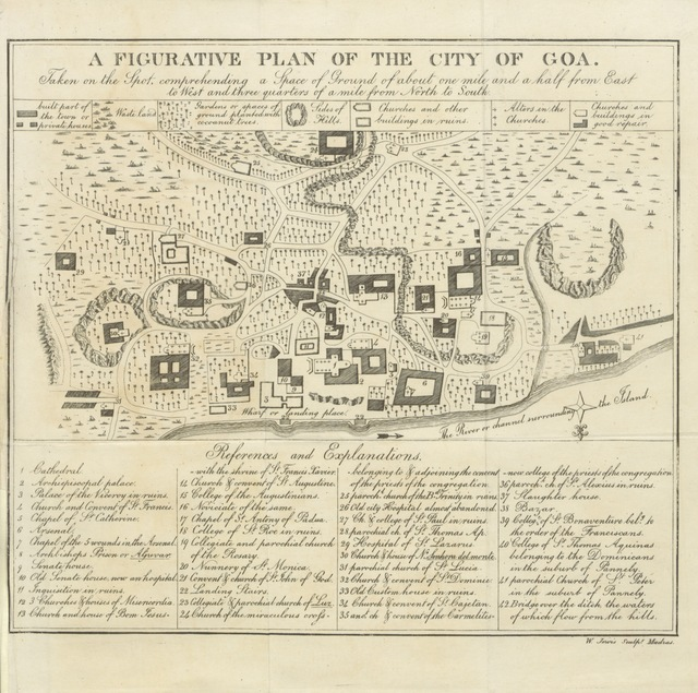 """map from """"An Historical Sketch of Goa ... with an account of the present state of that celebrated city, and of the surrounding territories under its immediate jurisdiction, etc. [With a map.]"""""""