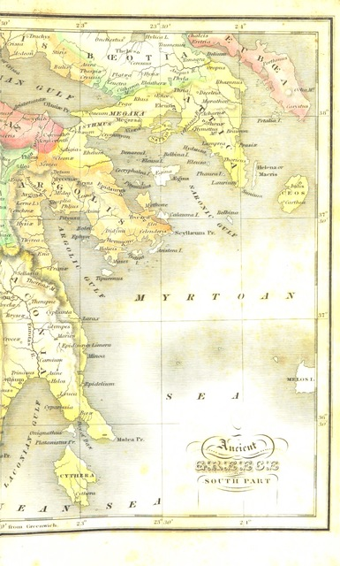 """map from """"History of ancient and modern Greece. [The former, by F. Malkin, reprinted from the """"Library of Useful Knowledge""""; the latter, compiled by the editor from various sources.] Edited by J. Frost"""""""