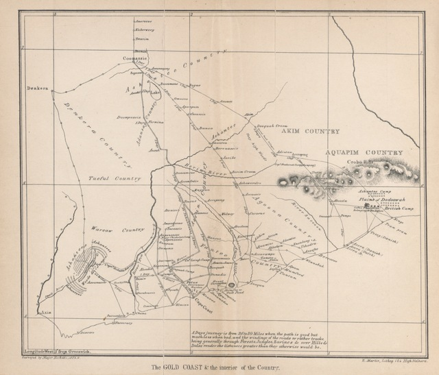 """map from """"Narrative of the Ashantee War; with a view of the present state of the Colony of Sierra Leone"""""""