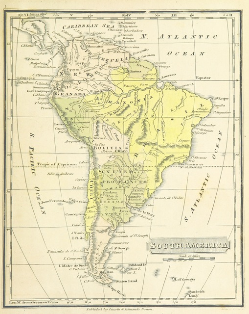 """map from """"The Boston School Atlas. With elemental geography and astronomy, etc. (Fourth edition.) [Maps, with explanatory text.]"""""""