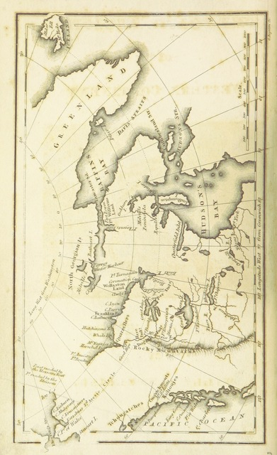 """map from """"The Polar Regions of the Western Continent explored: embracing a geographical account of Iceland, Greenland, the islands of the frozen sea, and the northern parts of the American Continent ... Together with the adventures, discoveries, dangers, and trials of Parry, Franklin, Lyon, and other navigators, in those regions"""""""