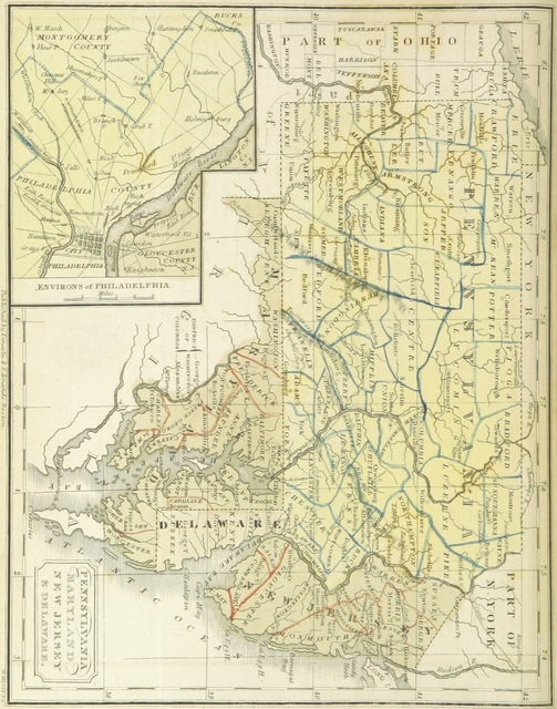 """New Jersey from """"The Boston School Atlas. With elemental geography and astronomy, etc. (Fourth edition.) [Maps, with explanatory text.]"""""""