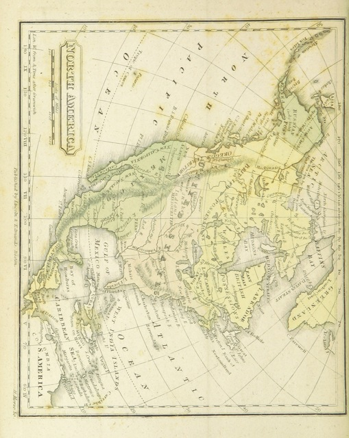 """North America from """"The Boston School Atlas. With elemental geography and astronomy, etc. (Fourth edition.) [Maps, with explanatory text.]"""""""