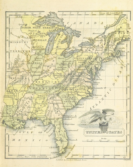 """United States from """"The Boston School Atlas. With elemental geography and astronomy, etc. (Fourth edition.) [Maps, with explanatory text.]"""""""